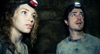 AS ABOVE, SO BELOW, from left: Perdita Weeks, Ben Feldman, 2014. ©Universal Pictures