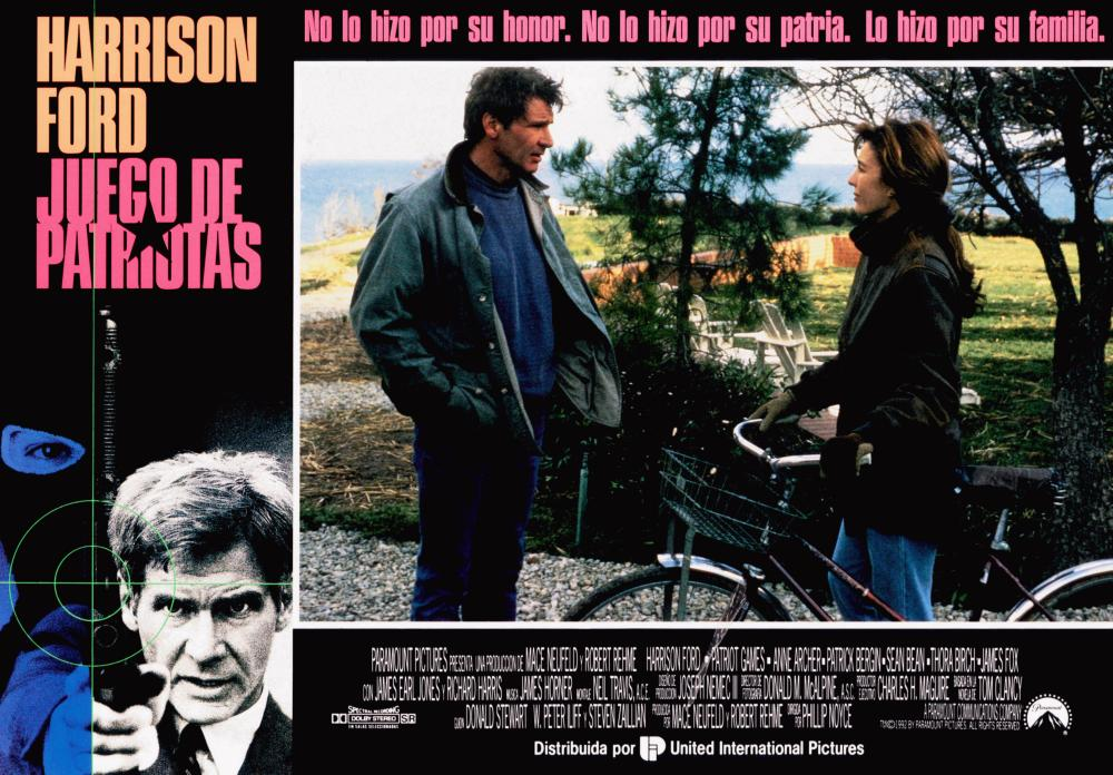 PATRIOT GAMES, (aka JUEGO DE PATRIOTAS), Harrison Ford (left), center from left: Harrison Ford, Anne Archer, 1992, © Paramount