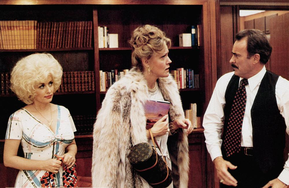 NINE TO FIVE, (aka 9 TO 5), from left: Dolly Parton, Marian Mercer, Dabney Coleman, 1980. TM and Copyright ©20th Century Fox Film Corp. All rights reserved..