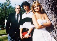MY TUTOR, from left: Kevin McCarthy, Matt Lattanzi, Caren Kaye, 1983. ©Crown International Pictures