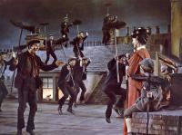 MARY POPPINS, Dick Van Dyke, Julie Andrews, Matthew Garber, Karen Dotrice, 1964.