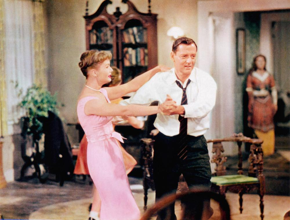 THE MATING GAME, from left: Debbie Reynolds, Tony Randall, 1959
