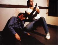 MANIAC COP, Bruce Campbell (right), 1988. ©Shapiro-Glickenhaus Home Video
