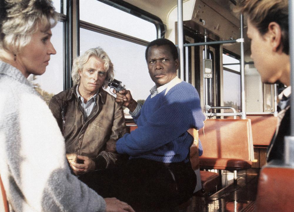 LITTLE NIKITA, River Phoenix (front right), back: Richard Lynch, Sidney Poitier, 1988. ©Columbia Pictures