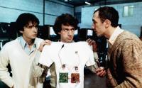 LES SOUS-DOUES, Philippe Taccini (left), Daniel Auteuil (center), 1980, © AMLF