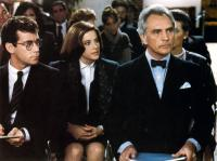 LEGAL EAGLES, Debra Winger (center), Terence Stamp (right), 1986. ©Universal Pictures