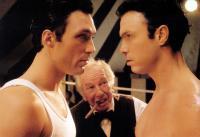 THE KRAYS, from left: Martin Kemp, Michael Balfour (back), Gary Kemp,  1990. ©Miramax