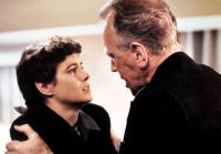A KISS BEFORE DYING, from left: Sean Young, Max von Sydow, 1991. ©Universal Pictures