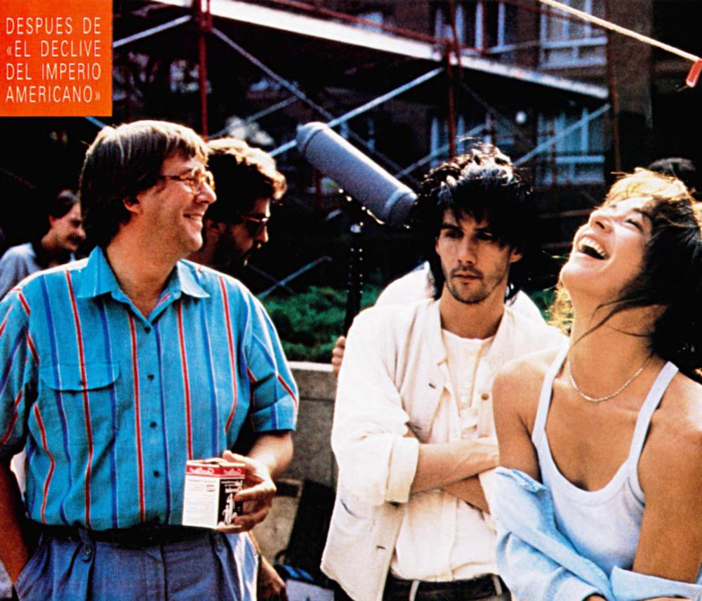 JESUS OF MONTREAL, (aka JESUS DE MONTREAL), from left: Remy Girard, Lothaire Bluteau, Catherine Wilkening, 1989, © Orion