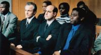 IN TOO DEEP, David Patrick Kelly (second from left), Stanley Tucci (arms folded), Omar Epps, 1999, © Miramax