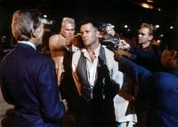 HUDSON HAWK, Bruce Willis (center), David Caruso (right), 1991. ©TriStar Pictures