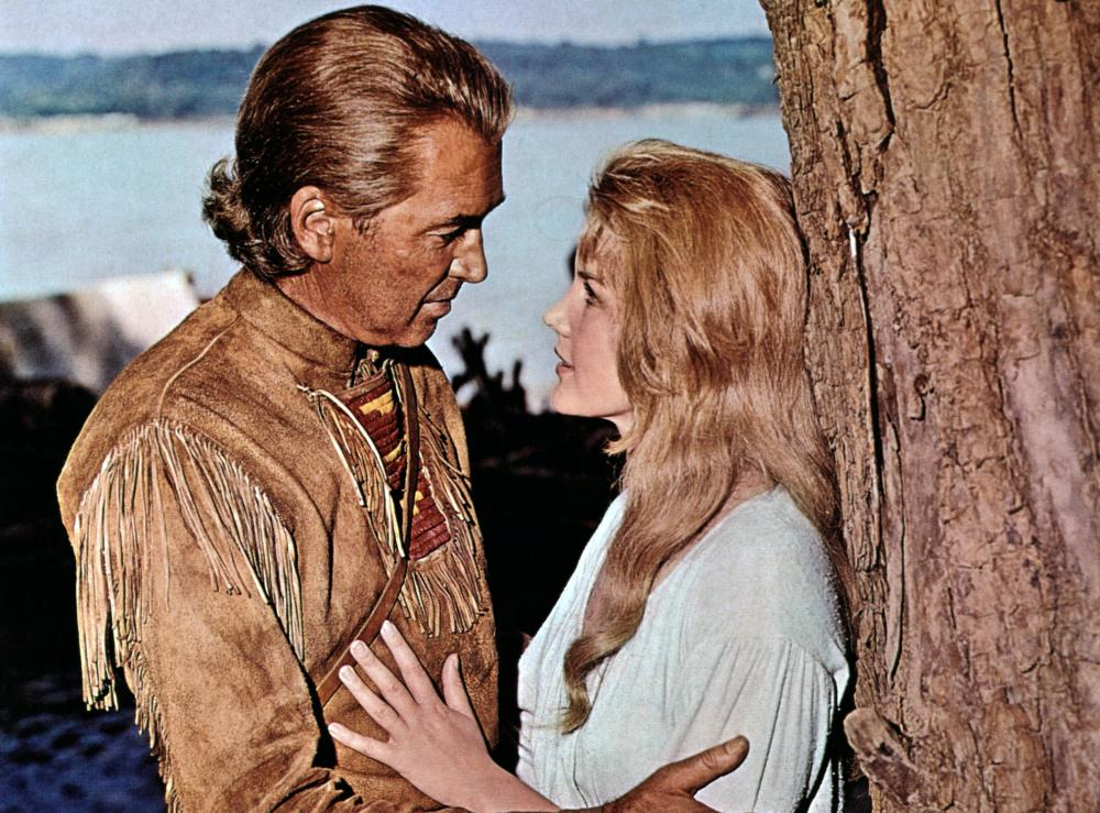 HOW THE WEST WAS WON, from left: James Stewart, Carroll Baker, 1962