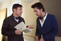 THIS IS WHERE I LEAVE YOU, from left: writer Jonathan Tropper, director Shawn Levy, on set, 2014. ph: Jessica Miglio/©Warner Bros. Pictures