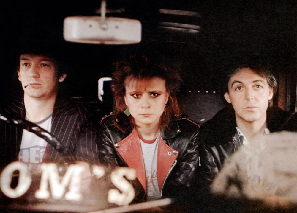 GIVE MY REGARDS TO BROAD STREET, Tracey Ullman (center), Paul McCartney (right), 1984. ©20th Century-Fox Film Corporation, TM & Copyright