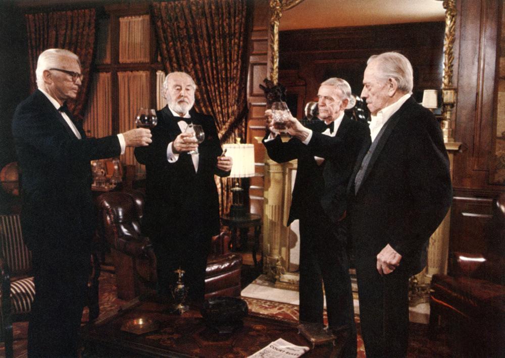 GHOST STORY, Douglas Fairbanks Jr., John Houseman, Fred Astaire, Melvyn Douglas, 1981, (c) Universal