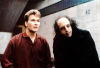 GHOST, from left: Patrick Swayze, Vincent Schiavelli, 1990. ©Paramount