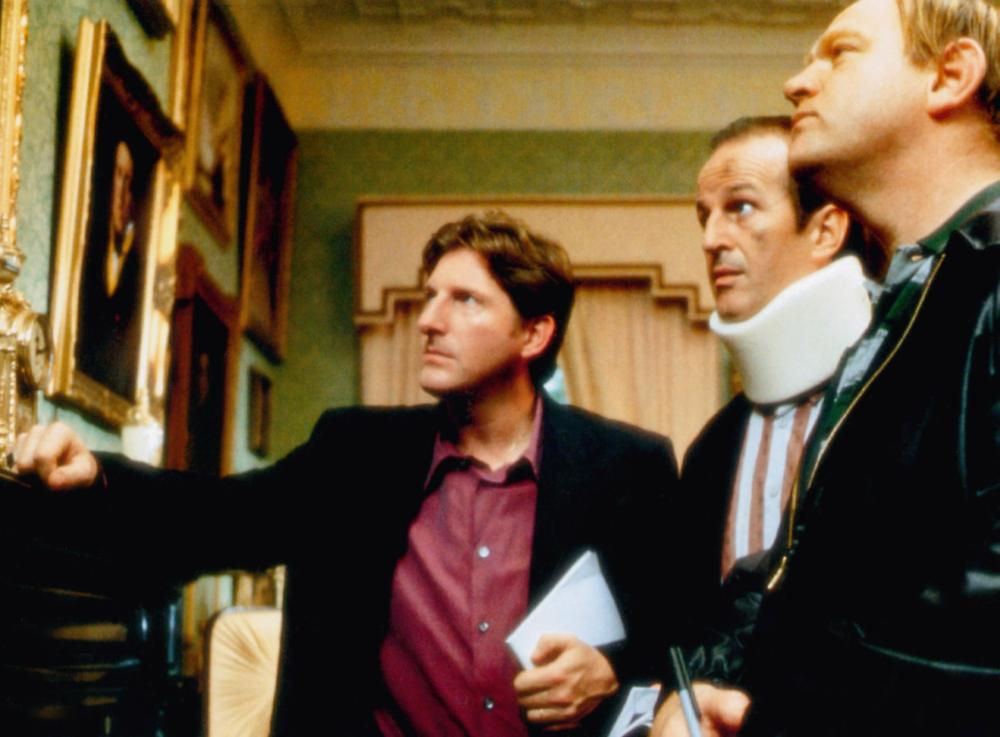 THE GENERAL, from left: Adrian Dunbar, Sean McGinley, Brendan Gleeson, 1998, © Sony Pictures Classics