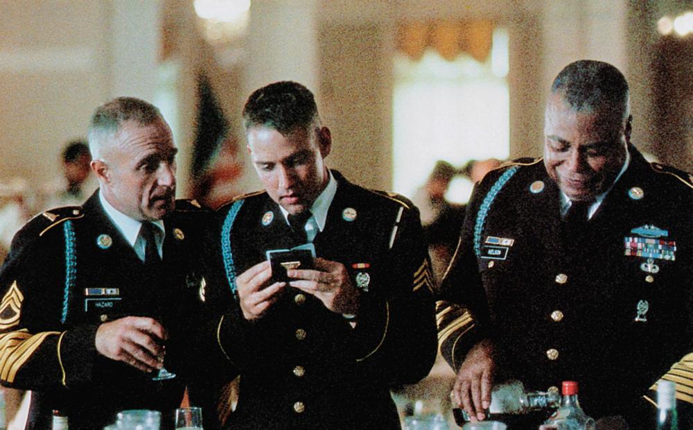 GARDENS OF STONE, from left: James Caan, D.B. Sweeney, James Earl Jones, 1987, © TriStar
