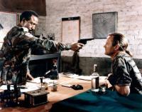 FREEDOM FIGHTERS, (aka MERCENARY FIGHTERS), from left: Robert DoQui, Peter Fonda, 1988. ©Cannon Films