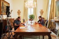 THE BEST OF ME, from left: director Michael Hoffman, producer Denise Di Novi, on set, 2014. ph: Gemma LaMana/©Relativity Media