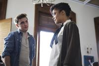 DEAR WHITE PEOPLE, from left: Kyle Gallner, Tessa Thompson, 2014. Ph: Ashley Nguyen/©Roadside Attractions