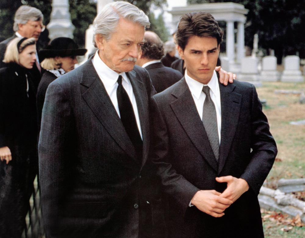 THE FIRM, from left: Hal Holbrook,  Tom Cruise, 1993. ©Paramount Pictures