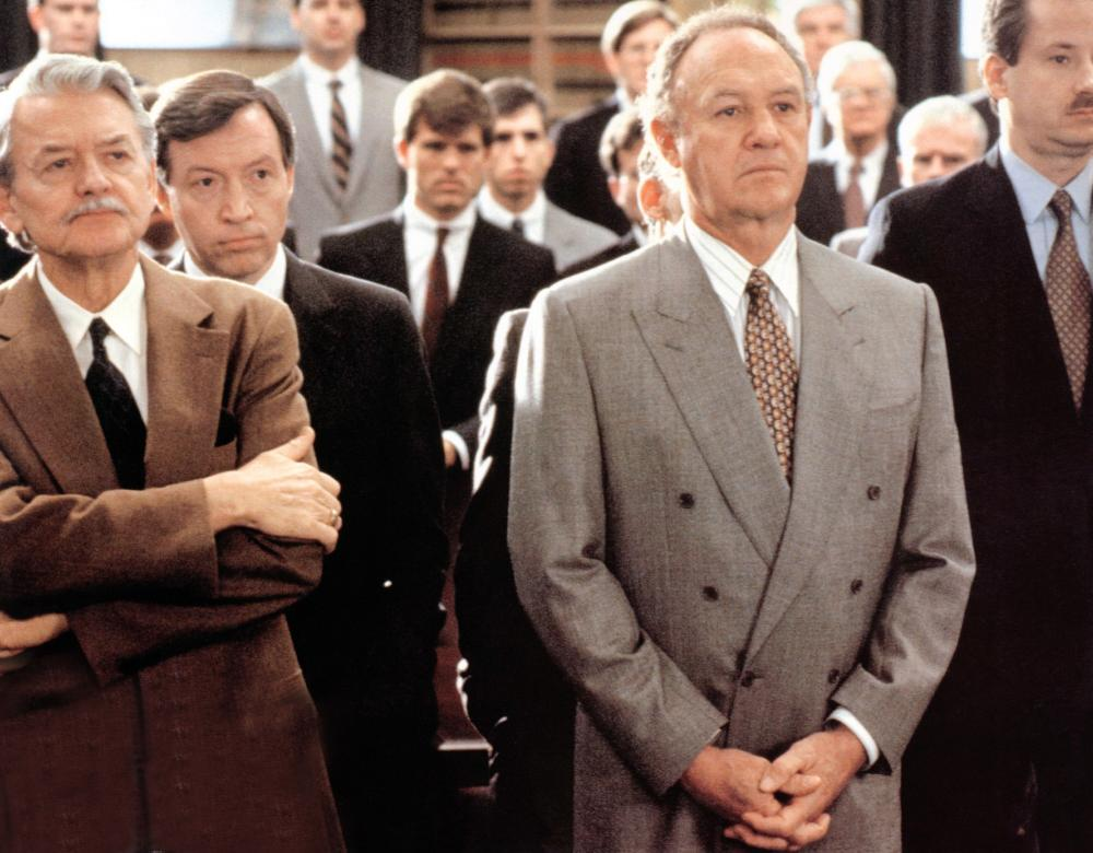THE FIRM, from left: Hal Holbrook,  Gene Hackman, 1993. ©Paramount Pictures
