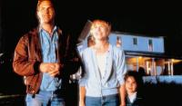 FIELD OF DREAMS, from left: Kevin Costner, Amy Madigan, Gaby Hoffman, 1989, © Universal