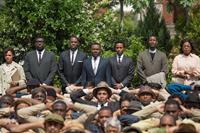SELMA, from left: Tessa Thompson, Omar J. Dorsey, Colman Domingo,  David Oyelowo, as Martin Luther King Jr., Andre Holland, Corey Reynolds, Lorraine Toussaint, 2014. ©Paramount Pictures