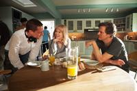 BEFORE I GO TO SLEEP, from left: director Rowan Joffe, Nicole Kidman, Colin Firth, on set, 2014. ph: Laurie Sparham/©Clarius Entertainment