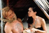 FAREWELL TO THE KING, from left: Nick Nolte, Marilyn Tokuda, 1989. ©Orion Pictures