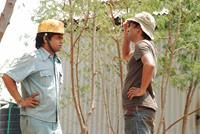 BHOPAL: A PRAYER FOR RAIN, from left: Rajpal Yadav, director Ravi Kumar, on set, 2014. ©Revolver Entertainment