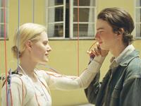 YOUNG ONES, from left: Aimee Mullins, Kodi Smit-McPhee, 2014./©Screen Media Films