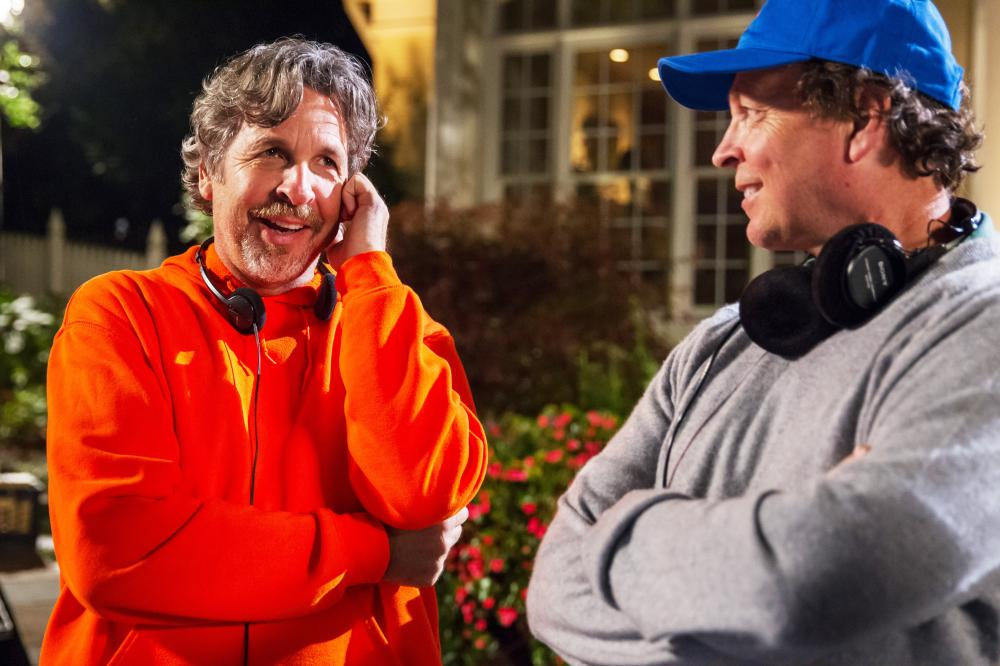 DUMB AND DUMBER TO, from left: director Peter Farrelly, director Bobby Farrelly, on set, 2014. ph: Hopper Stone/©Universal Pictures