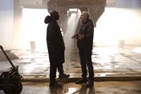 THE HUNGER GAMES: MOCKINGJAY - PART 1, from left: Mahershala Ali, director Francis Lawrence, on set, 2014. ph: Murray Close/©Lionsgate