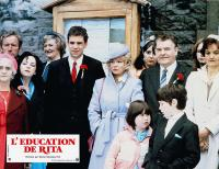 EDUCATING RITA, (aka L'EDUCATION DE RITA), Malcolm Douglas (red flower left), Julie Walters (qhite flower), Godfrey Quigley (red flower right), 1983, © Columbia
