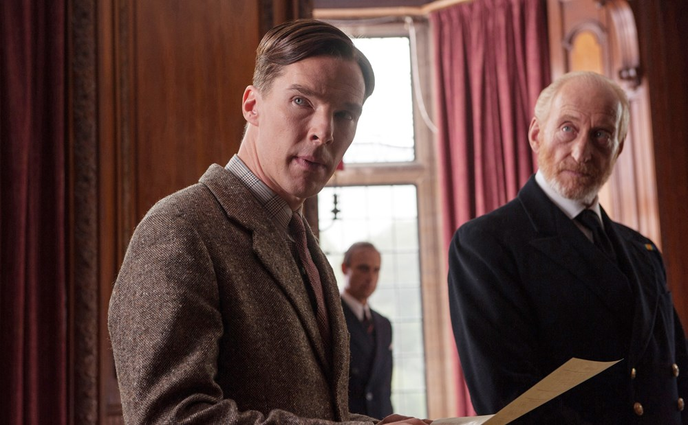 THE IMITATION GAME, from left: Benedict Cumberbatch as Alan Turing, Charles Dance, 2014. ph: Jack English/©Weinstein Company