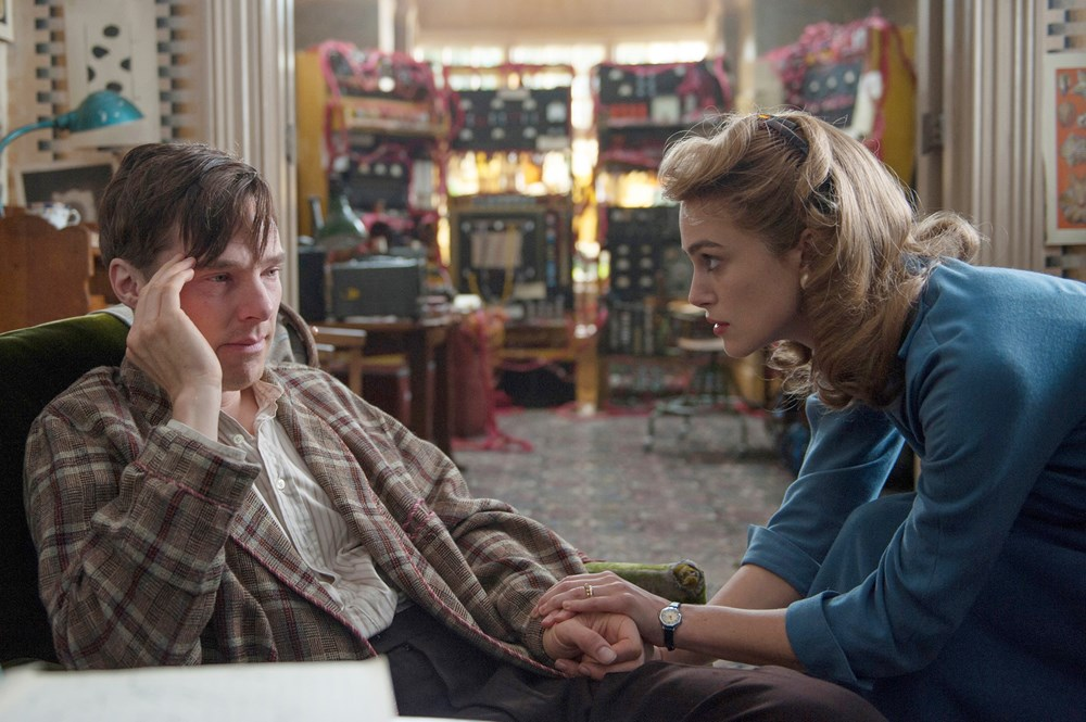 THE IMITATION GAME, from left: Benedict Cumberbatch as Alan Turing, Keira Knightley, 2014. ph: Jack English/©Weinstein Company