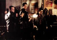 DONNIE BRASCO, front from left: James Russo, Michael Madsen, Al Pacino, Johnny Depp (rear), 1997, © TriStar