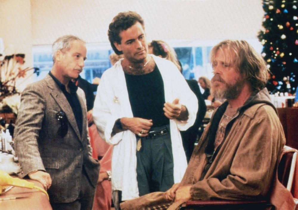 DOWN AND OUT IN BEVERLY HILLS, from left: Richard Dreyfuss, Michel Voletti, Nick Nolte, 1986, © Buena Vista