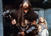 CONAN THE DESTROYER, from left: Wilt Chamberlain, Olivia D'Abo, 1984, © Universal