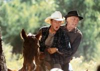 CITY SLICKERS II: THE LEGEND OF CURLY'S GOLD, from left: Daniel Stern, Jack Palance, 1994. ©Columbia Pictures