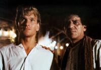 CITY OF JOY, from left:  Patrick Swayze, Om Puri, 1992. ©Tri-Star Pictures