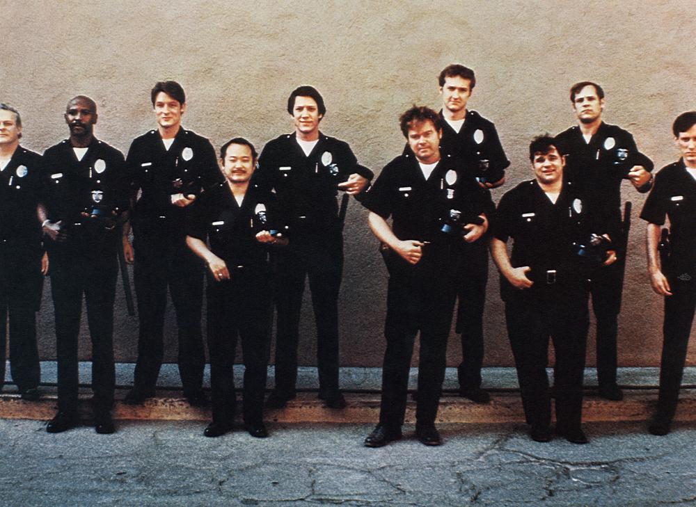 THE CHOIRBOYS, Charles Durning, Louis Gossett, Jr., Perry King, Clyde Kusatsu, Stephen Macht, Tim McIntire, Randy Quaid, Chuck Sacci, Don Stroud, James Woods, 1977