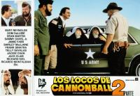 CANNONBALL RUN II, (aka LOS LOCOS DE CANNONBALL 2), top left from left: Burt Reynolds, Dom DeLuise, bottom left from left: Ricardo Montalban, Doug McClure, Jamie Farr, center from left: Dom DeLuise, Burt Reynolds, Shirley MacLaine, Marilu Henner, 1984, © W