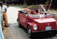 CAMILLA, George Harris (standing), in car from left: Jessica Tandy, Bridget Fonda, 1994, © Miramax