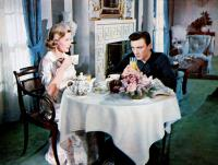 BUTTERFIELD 8, from left:  Dina Merrill, Laurence Harvey, 1960