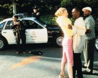 BOWFINGER, front from left: Heather Graham, Eddie Murphy, Claude Brooks, 1999, © Universal