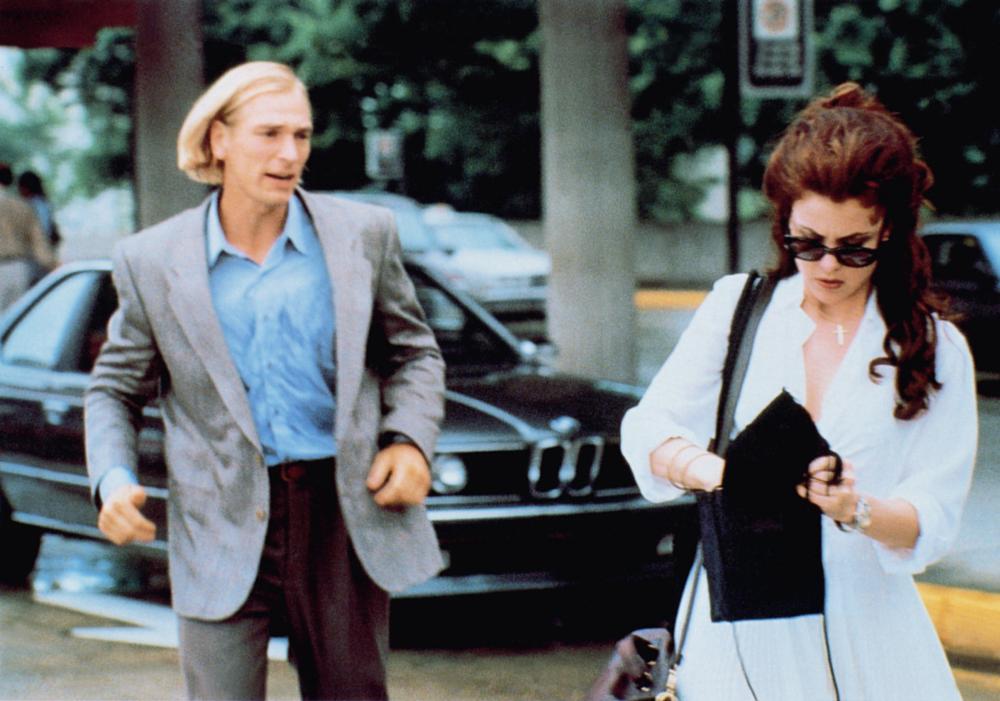 BOXING HELENA, from left: Julian Sands, Sherilyn Fenn, 1993, © Orion