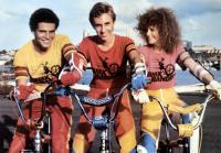 BMX BANDITS, from left: Angelo D'Angelo, James Lugton, Nicole Kidman, 1983. ©Rank Film Organization/